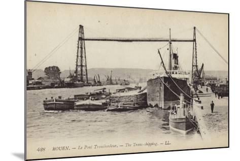 Postcard Depicting the Rouen Transporter Bridge--Mounted Photographic Print
