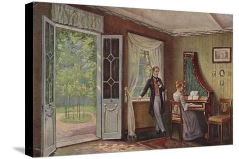 Couple in their Home--Stretched Canvas Print