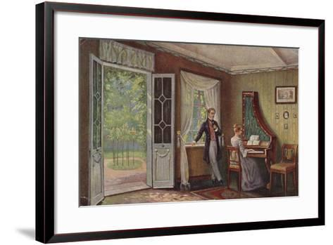 Couple in their Home--Framed Art Print