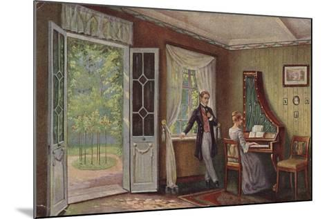 Couple in their Home--Mounted Giclee Print