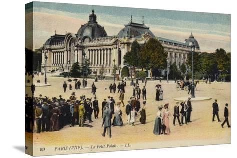 Postcard Depicting Le Petit Palais--Stretched Canvas Print