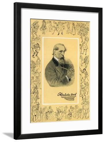 Charles Dickens and the Creatures of His Fancy--Framed Art Print