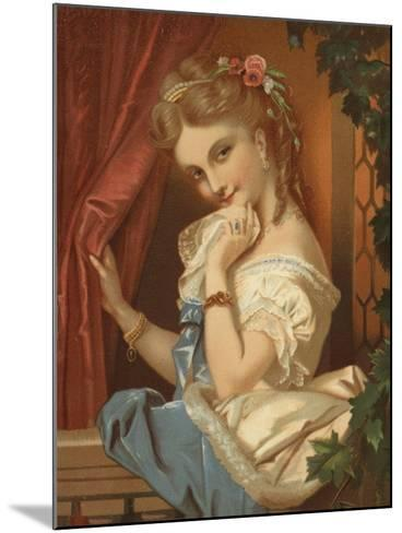 Blonde Girl, with Seductive Smile--Mounted Giclee Print