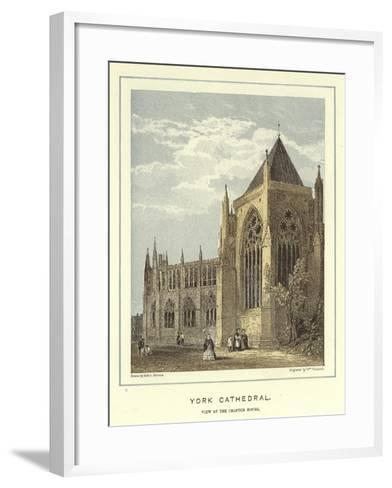 York Cathedral, View of the Chapter House-Hablot Knight Browne-Framed Art Print