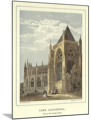 York Cathedral, View of the Chapter House-Hablot Knight Browne-Mounted Giclee Print