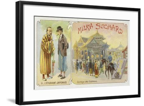 The Japanese Student--Framed Art Print