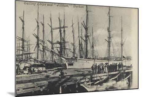 Sailing Ships and Tilikum, Durban, South Africa--Mounted Photographic Print