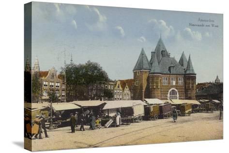 Nieuwmarkt and Waag, Amsterdam--Stretched Canvas Print