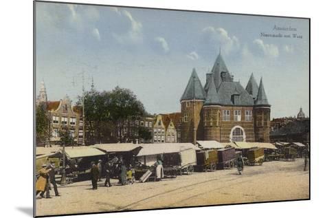 Nieuwmarkt and Waag, Amsterdam--Mounted Photographic Print
