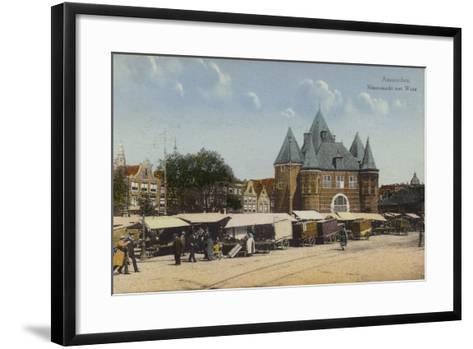 Nieuwmarkt and Waag, Amsterdam--Framed Art Print