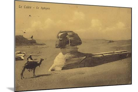 The Sphinx, Cairo, Egypt--Mounted Photographic Print