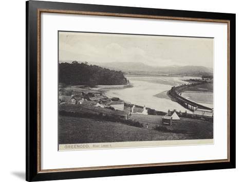 Greenodd and the River Leven, Lancashire--Framed Art Print