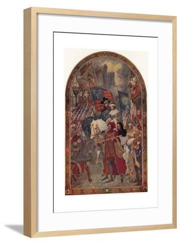 Henry VI, the Battle of Barnet, 1471-John Henry Amschewitz-Framed Art Print