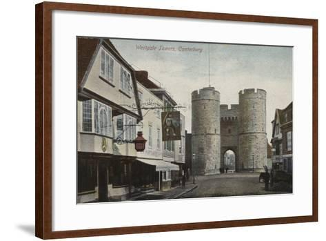 Westgate Towers, Canterbury, Kent--Framed Art Print