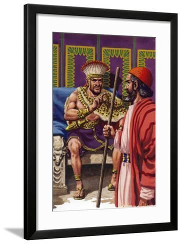 Saul Appearing before Samuel-Pat Nicolle-Framed Art Print