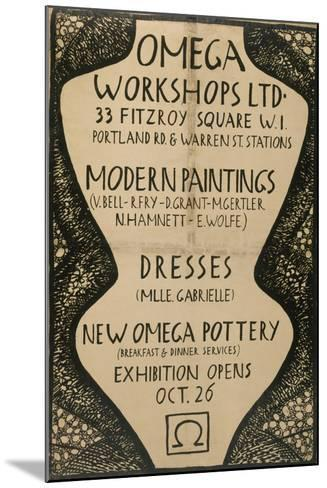 Graphic Advert for the Omega Workshops, 1920--Mounted Giclee Print