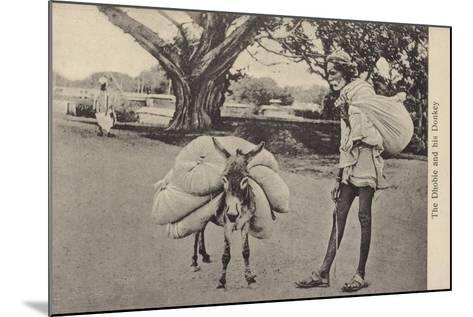 The Dhobie and His Donkey--Mounted Photographic Print