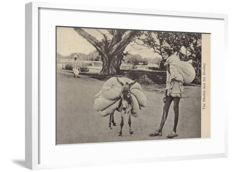 The Dhobie and His Donkey--Framed Art Print