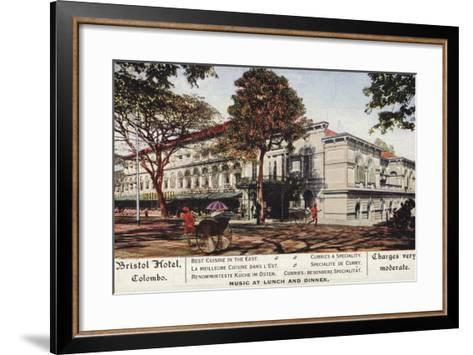 Bristol Hotel in Colombo--Framed Art Print