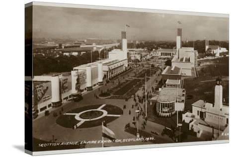 Scottish Avenue, Empire Exhibition, Glasgow, 1938--Stretched Canvas Print