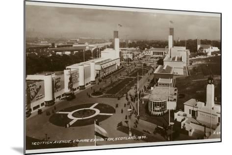 Scottish Avenue, Empire Exhibition, Glasgow, 1938--Mounted Photographic Print