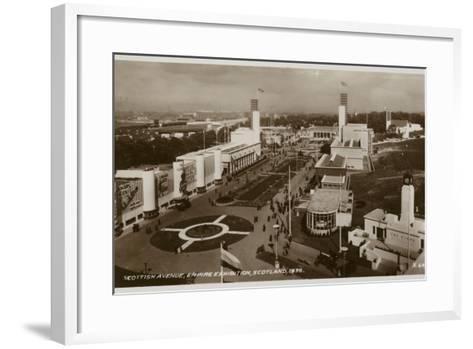 Scottish Avenue, Empire Exhibition, Glasgow, 1938--Framed Art Print