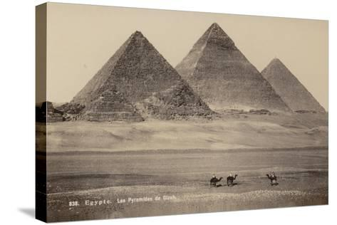 Pyramids of Giza, Egypt--Stretched Canvas Print