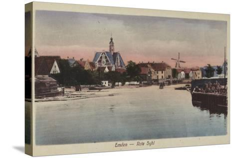 Rote Syhl, Emden, Germany--Stretched Canvas Print
