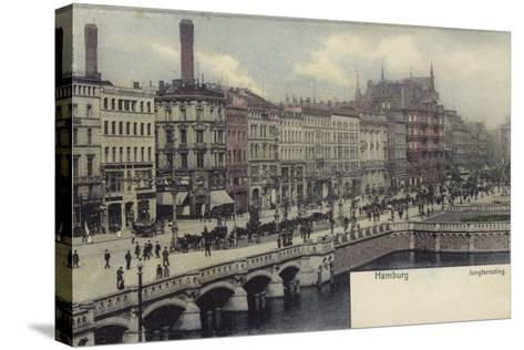 Postcard Depicting a General View of Hamburg--Stretched Canvas Print