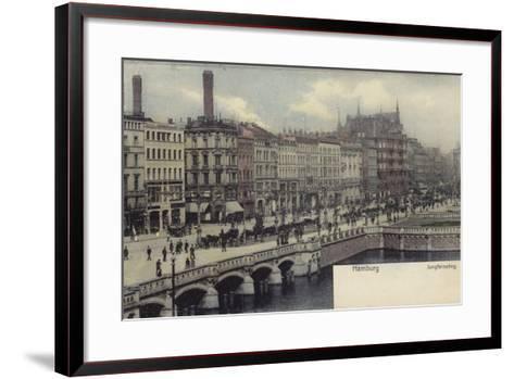Postcard Depicting a General View of Hamburg--Framed Art Print