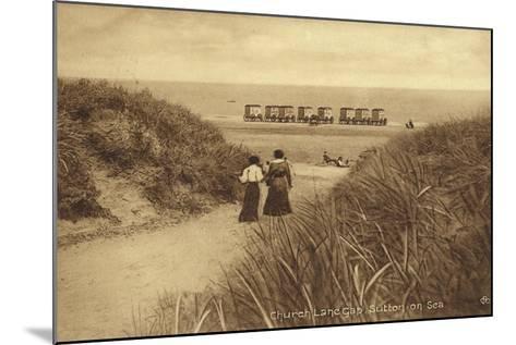 Church Lane Gap, Sutton-On-Sea--Mounted Photographic Print