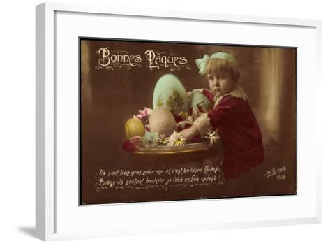 Easter Greetings Card--Framed Art Print