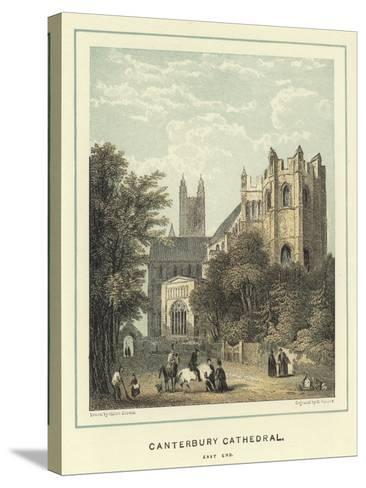 Canterbury Cathedral, East End-Hablot Knight Browne-Stretched Canvas Print