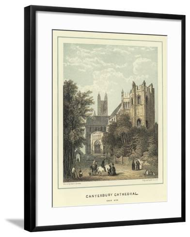 Canterbury Cathedral, East End-Hablot Knight Browne-Framed Art Print