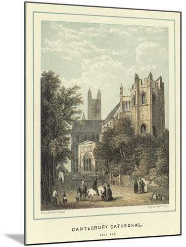 Canterbury Cathedral, East End-Hablot Knight Browne-Mounted Giclee Print