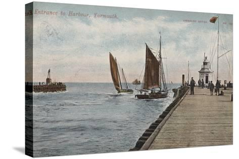 Entrance to Harbour, Yarmouth--Stretched Canvas Print