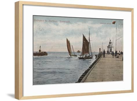 Entrance to Harbour, Yarmouth--Framed Art Print