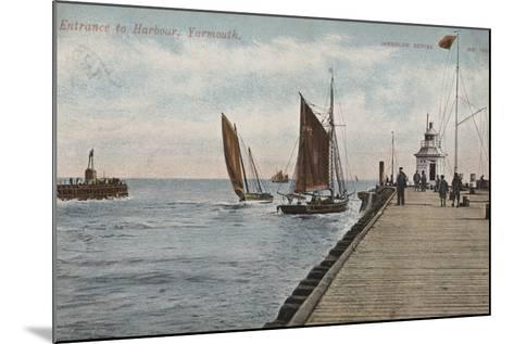 Entrance to Harbour, Yarmouth--Mounted Photographic Print