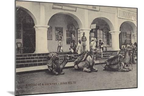 Arrival of a Caravan, Aden--Mounted Photographic Print