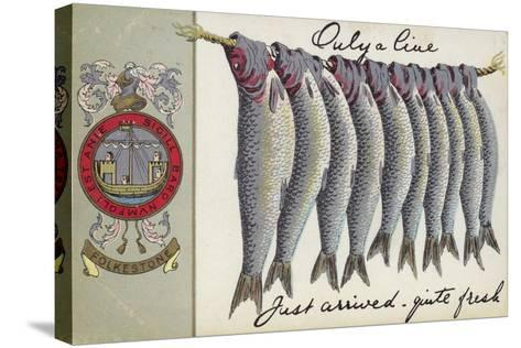 Fresh Fish of Folkstone--Stretched Canvas Print