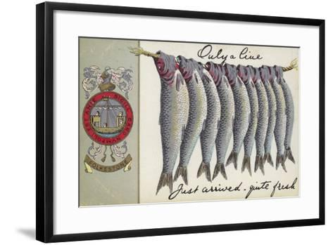 Fresh Fish of Folkstone--Framed Art Print