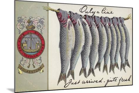 Fresh Fish of Folkstone--Mounted Giclee Print