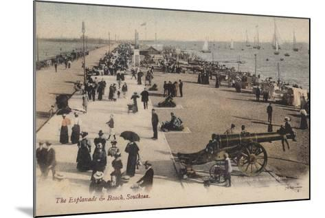 The Esplanade and Beach, Southsea--Mounted Photographic Print