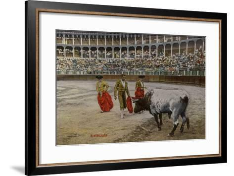 Bullfighting Scene, Spain--Framed Art Print