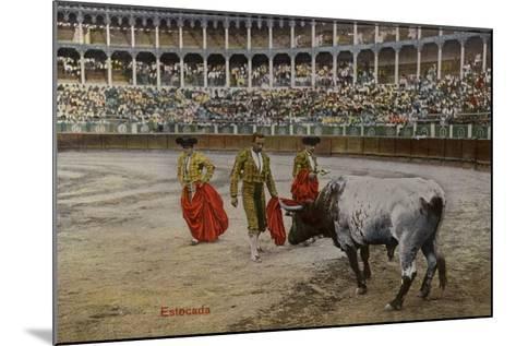Bullfighting Scene, Spain--Mounted Photographic Print