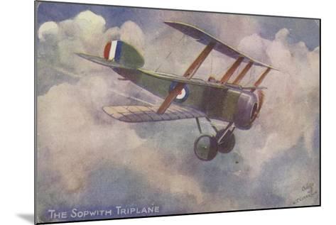 Sopwith Triplane--Mounted Giclee Print