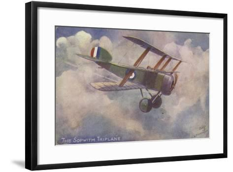 Sopwith Triplane--Framed Art Print