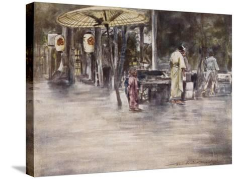 Wet Weather-Mortimer Ludington Menpes-Stretched Canvas Print