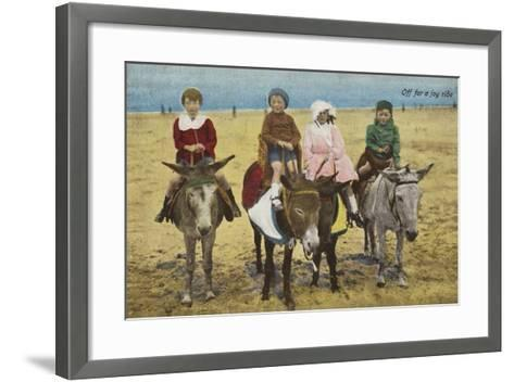 Off for a Joy Ride--Framed Art Print
