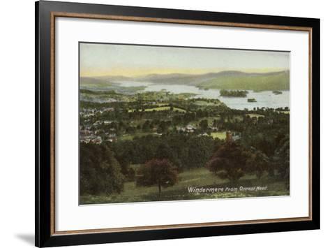 Windermere from Orrest Head, Lake District--Framed Art Print